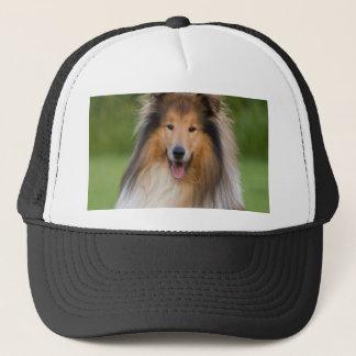 dog rough collie wait for love trucker hat