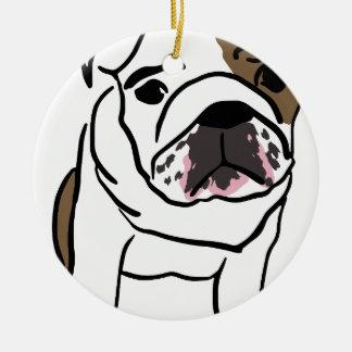 Dog Round Ceramic Ornament