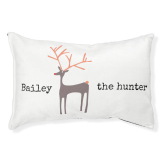Dog´s name the hunter animated deer - customizable pet bed