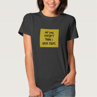 Dog Says No Issues Yellow Grungy Box T-Shirt