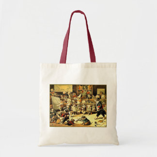 Dog School by Louis Wain Tote Bag