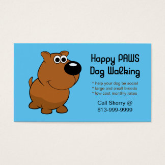 Dog Service (Walking/Grooming/etc) business cards