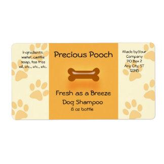 Dog Shampoo Soap Label (orange)