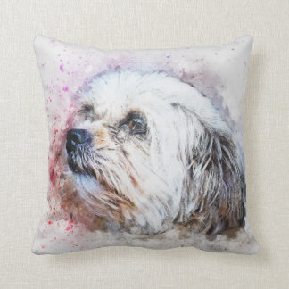 Dog shih tzu Pet Family Room Pillow