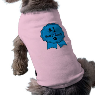 Dog Show Best in Breed Blue Ribbon Doggie T-shirt