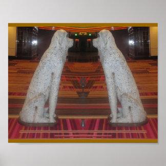 DOG SHOW : Interior Decoration Fake Stone Scuptule Poster