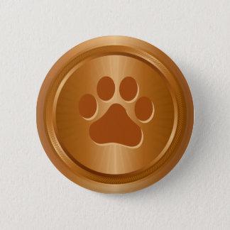 Dog show winner bronze medal 2 inch round button