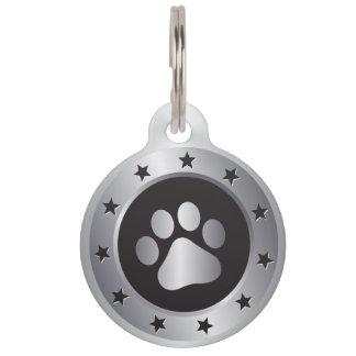 Dog show winner silver medal pet ID tag