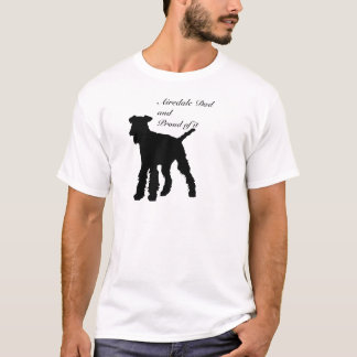 Dog Silhouette Airedale Dad T-Shirt