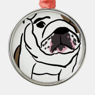 Dog Silver-Colored Round Ornament