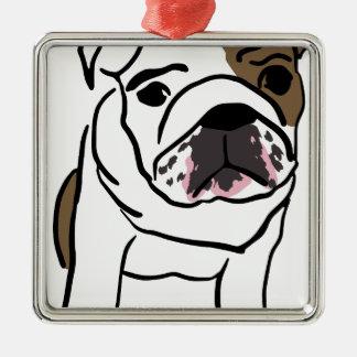 Dog Silver-Colored Square Ornament