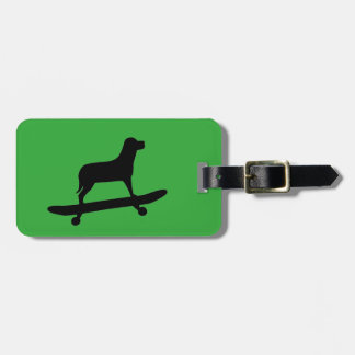 Dog Skateboarding - Custom Luggage Tag