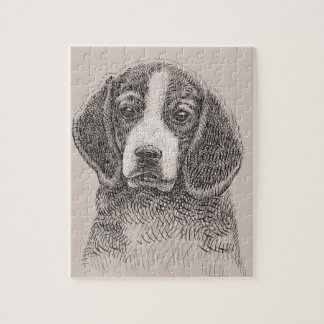 Dog Sketch 8x10 Photo Puzzle with Gift Box