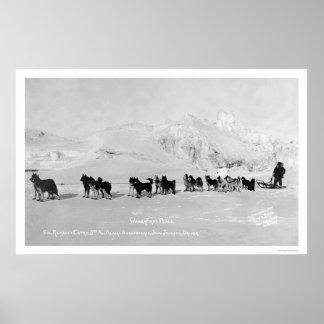 Dog Sled Champions Alaska 1910 Poster