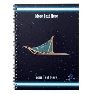 Dog Sled On Stars Notebook