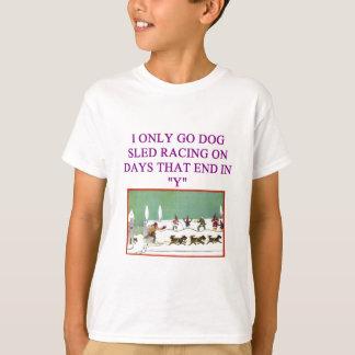dog sled racing iditarod lover T-Shirt