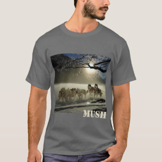 Dog Sled Team Image Mush Personalized T-Shirt