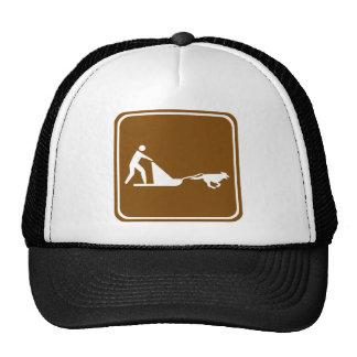 Dog sledding Highway Sign Trucker Hat