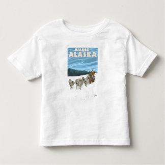 Dog Sledding Scene - Valdez, Alaska Toddler T-shirt
