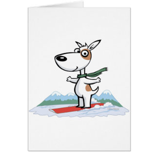 Dog Snowboarder Card
