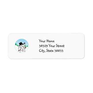 Dog Snowman Return Address Label