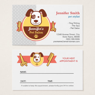 Dog Spa Salon - Appointment Card
