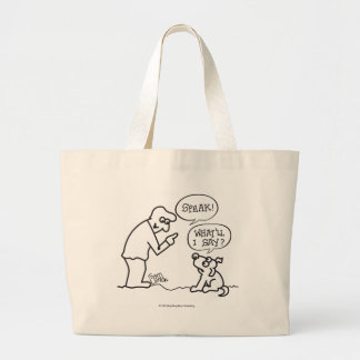 Dog-Speak Large Tote Bag