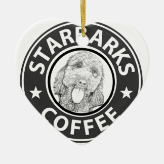 dog Starbucks Ceramic Ornament