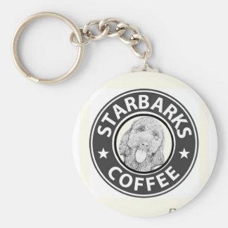 dog Starbucks Keychain