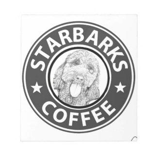 dog Starbucks Notepad