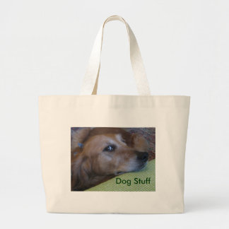 Dog Stuff Large Tote Bag