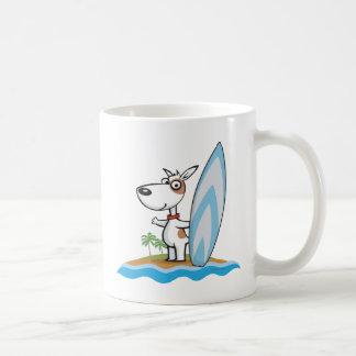 Dog Surfer Classic White Coffee Mug