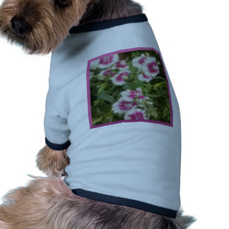 Dog Sweater Elegent White Flower Dog Tee Shirt