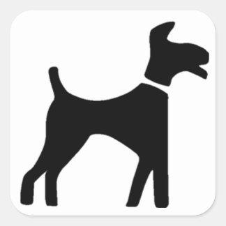 Dog Symbol Square Sticker