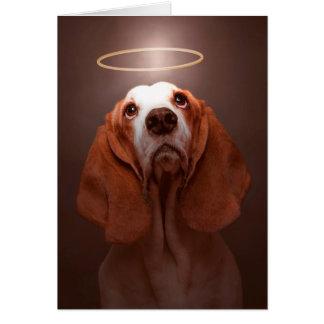 Dog Sympathy—Basset Hound Sympathy Card