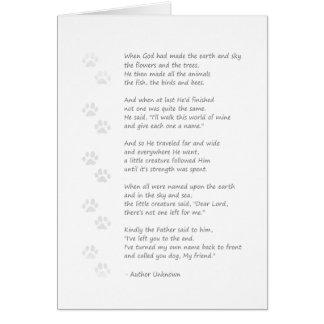 Dog Sympathy Card - Dog Poem on Front
