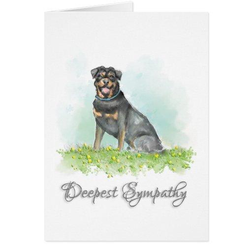 Dog Sympathy Card - Rottweiler Dog Sympathy