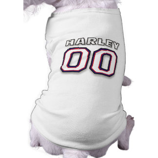 Dog T-shirt - NAME HARLEY - 00 Sports Jersey