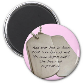 Dog Tag 2 Inch Round Magnet