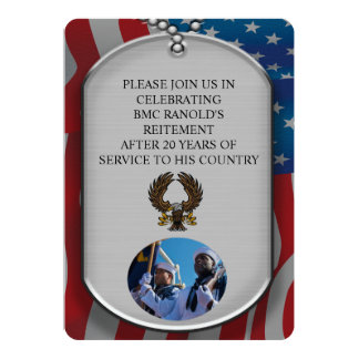 DOG TAGS MILITARY RETIREMENT CARD