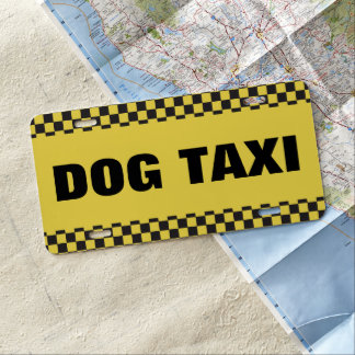 Dog Taxi License Plate
