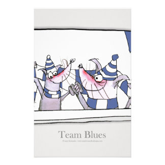 dog team blues forever stationery