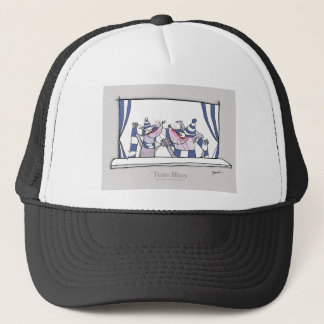 dog team blues forever trucker hat