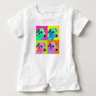 Dog, Terrier puppy. Popart animal Design Baby Romper