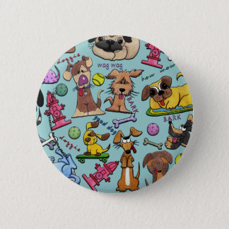 Dog Themed Collage 2 Inch Round Button