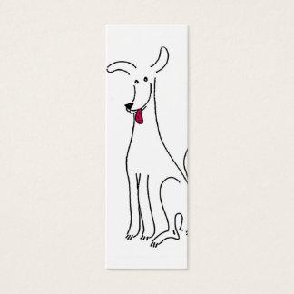 Dog tongue mini business card