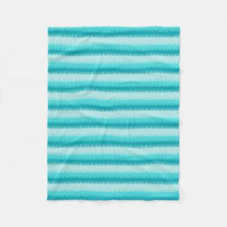 Dog tooth stripe aqua blue, green, teal blanket