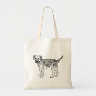 Dog Tote Bag - Border Terrier Design
