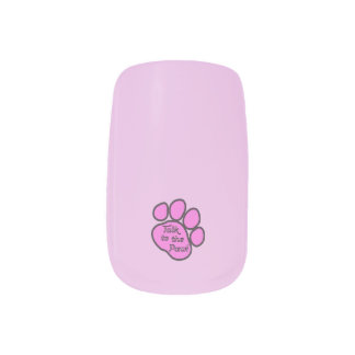 Dog Trail, Talk to the Paw - Pink Black Fingernail Decals