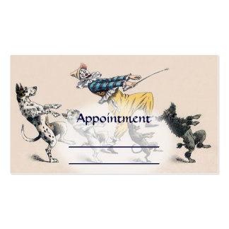 Dog Trainer, Clown, Dance Teacher Appointment card Double-Sided Standard Business Cards (Pack Of 100)